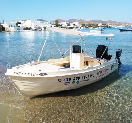 RENT A BOAT IN MILOS MAN 4.65 Hippie Fleet